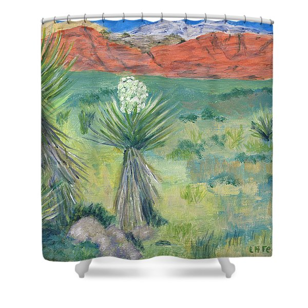 Red Rock Canyon With Yucca Shower Curtain