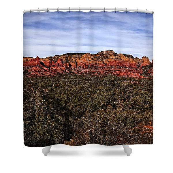 Red Rock Golden Hour 26 Shower Curtain