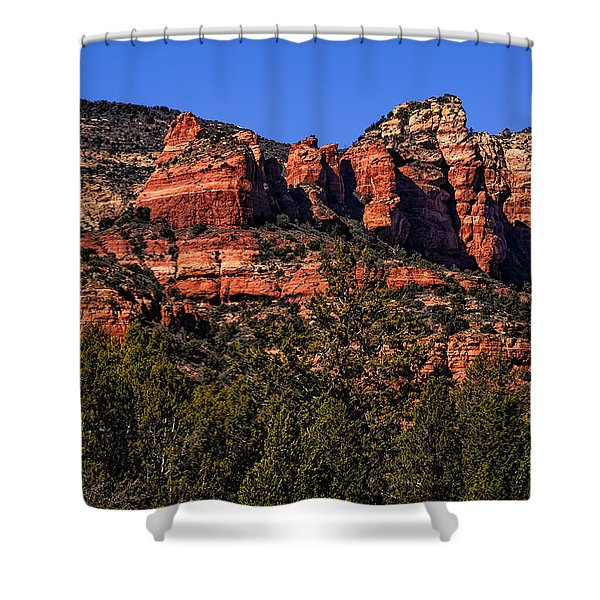 Red Rock Sentinels Shower Curtain