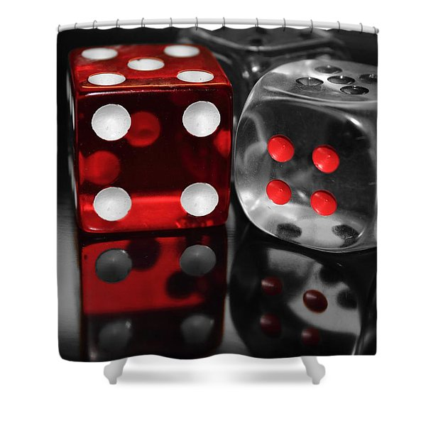 Red Rollers Shower Curtain