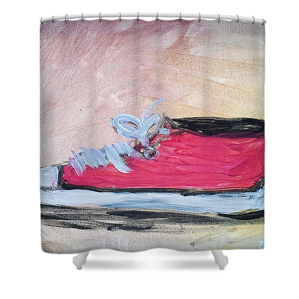 Red Tennis Shoe Shower Curtain