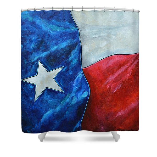 Red White And Texas Shower Curtain
