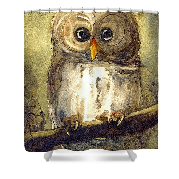 Redbird Cottage Owl Shower Curtain