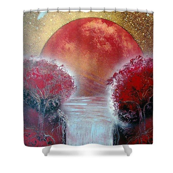 Redder Shower Curtain