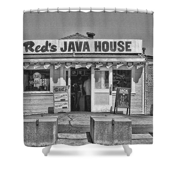 Red's Java House San Francisco By Diana Sainz Shower Curtain