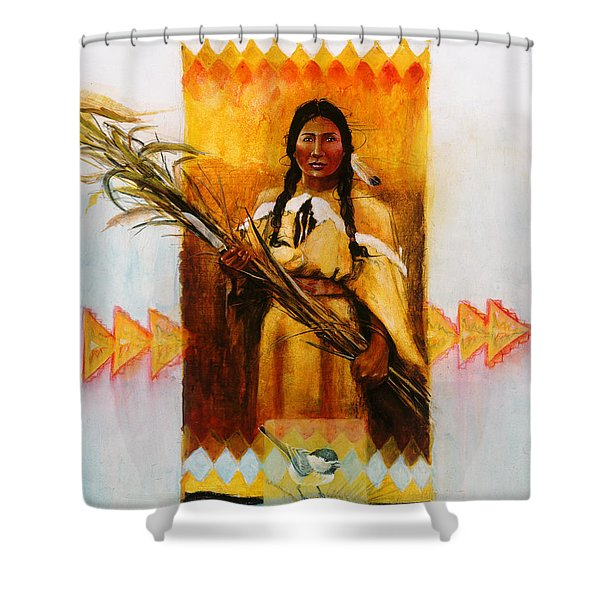 Reed Gatherer Shower Curtain