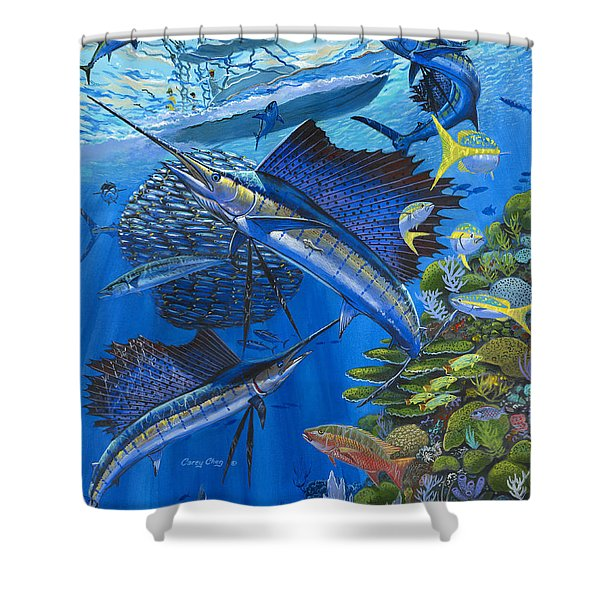 Reef Frenzy Off00141 Shower Curtain