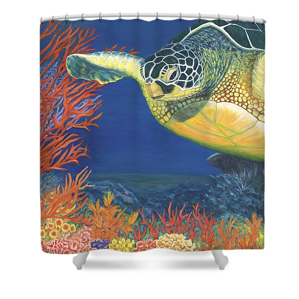 Reef Rider Shower Curtain