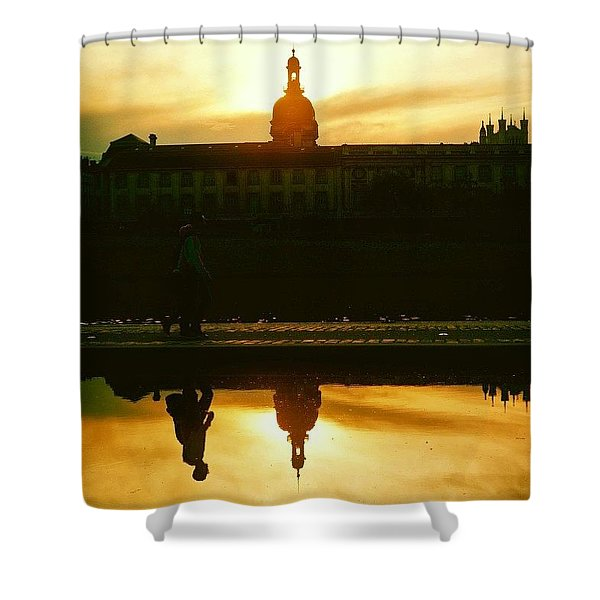 Reflected In Lyon, France Shower Curtain