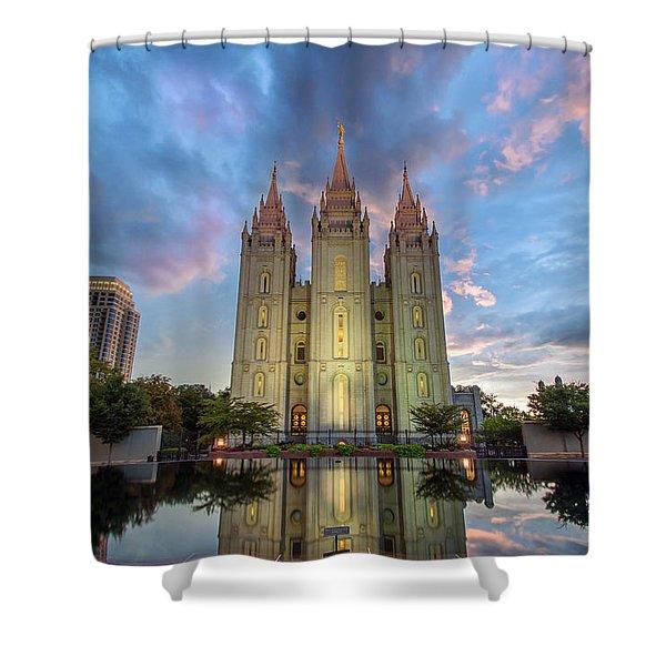 Reflecting On Faith Shower Curtain