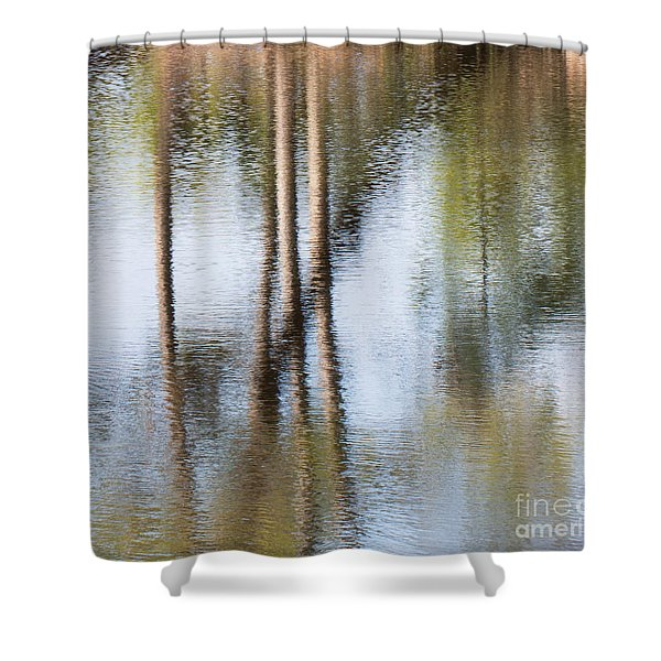 Reflection Abstract Shower Curtain