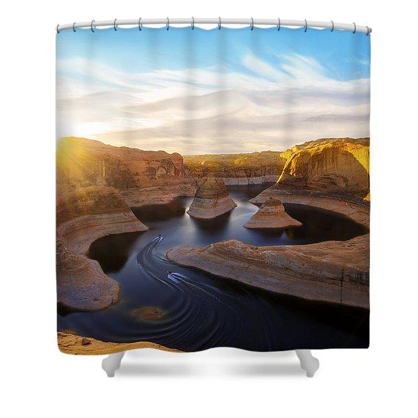Reflection Canyon Shower Curtain