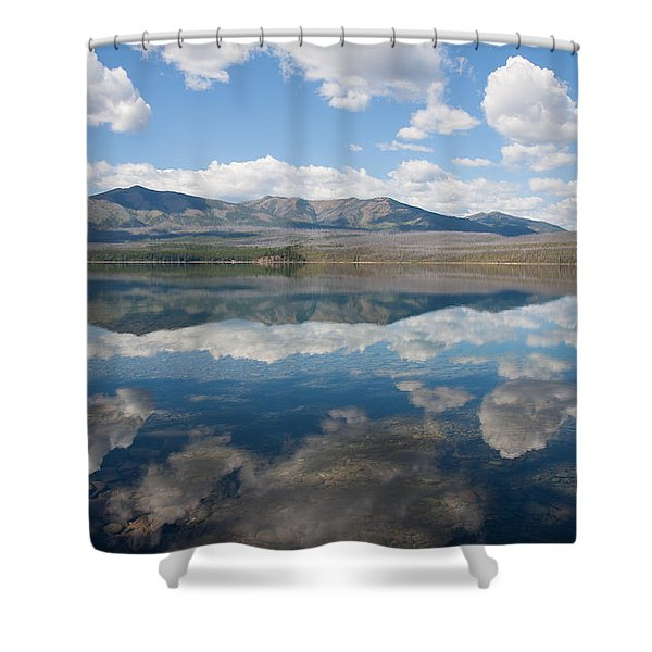 Reflections At Glacier National Park Shower Curtain