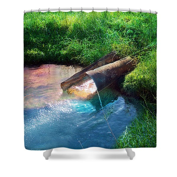Shower Curtain featuring the photograph Reflections by Gunter Nezhoda