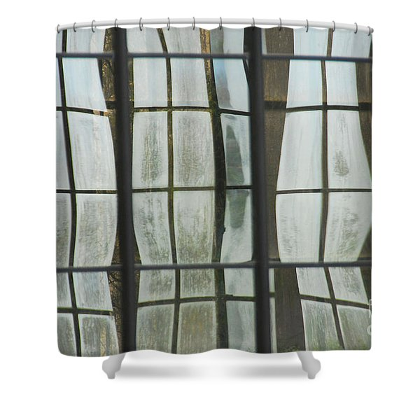 Reflections In A Garden Window Shower Curtain