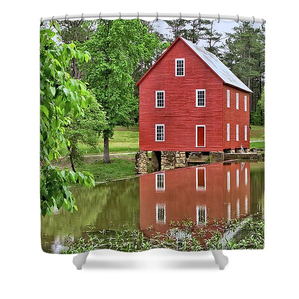 Reflections Of A Retired Grist Mill Shower Curtain