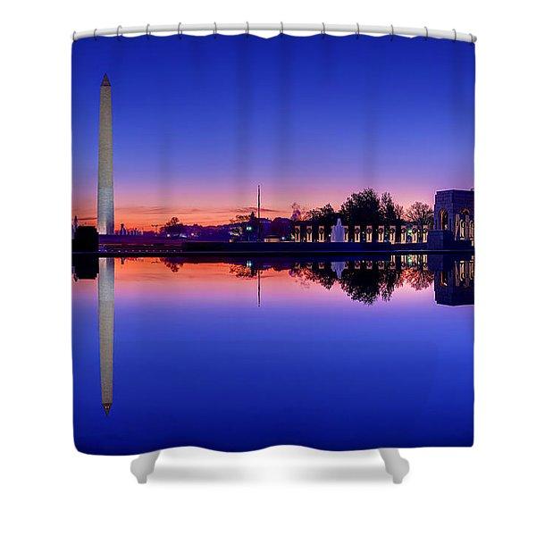 Reflections Of World War II Shower Curtain