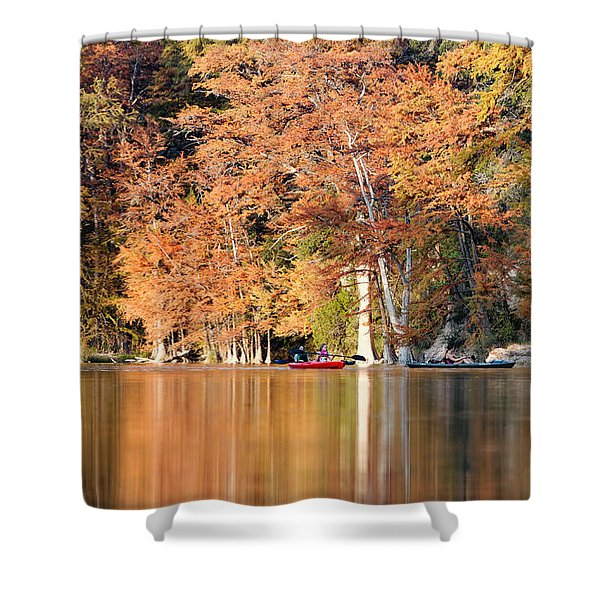 Reflections On The Frio River IIi Shower Curtain