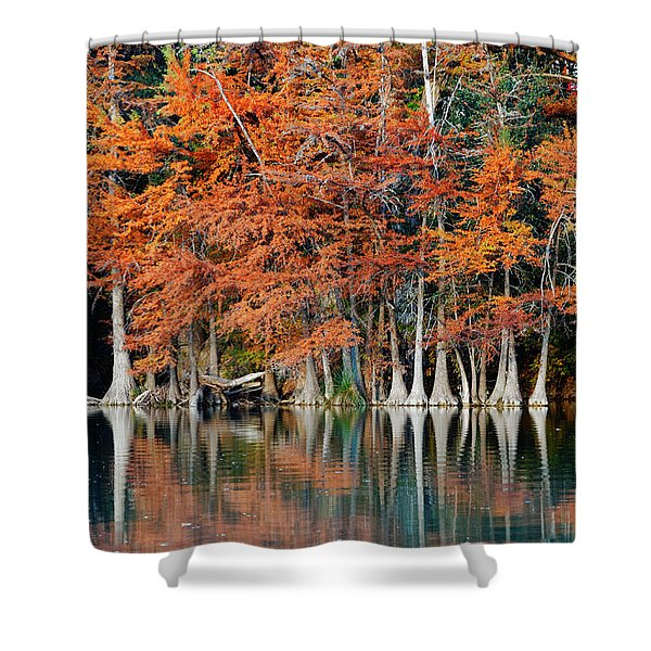 Reflections On The Frio River - Garner State Park - Texas Hill Country Shower Curtain