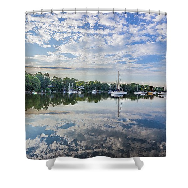 Reflections On The Magothy River Shower Curtain