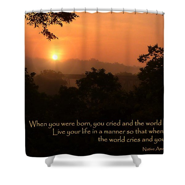 Rejoice - How To Live Your Life Shower Curtain