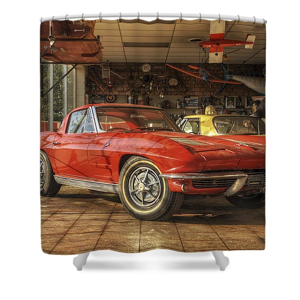 Relics Of History - Corvette - Elvis - Nehi Shower Curtain
