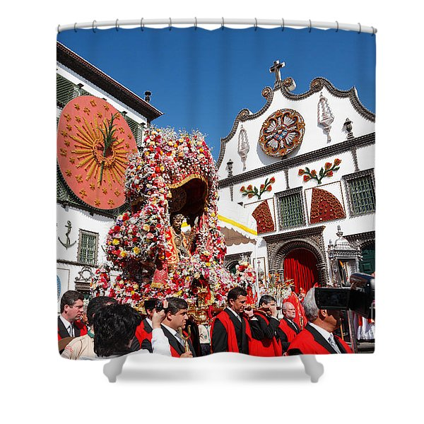 Religious Festival In Azores Shower Curtain