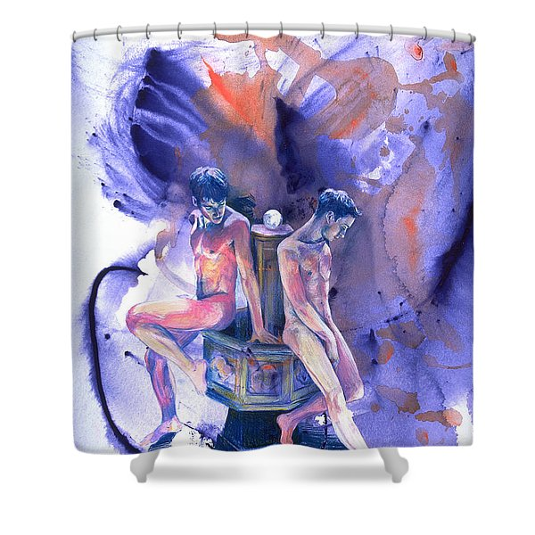 Reluctant Grace Shower Curtain