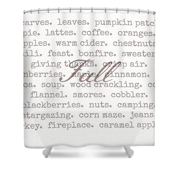 Remembering Fall Shower Curtain