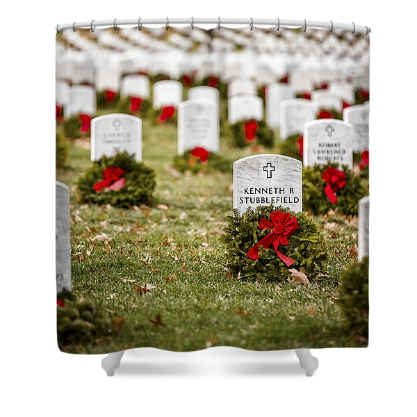 Remembering The Fallen Ones Shower Curtain