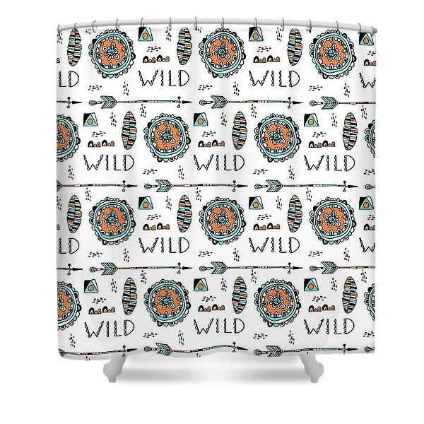 Repeat Print - Wild Shower Curtain