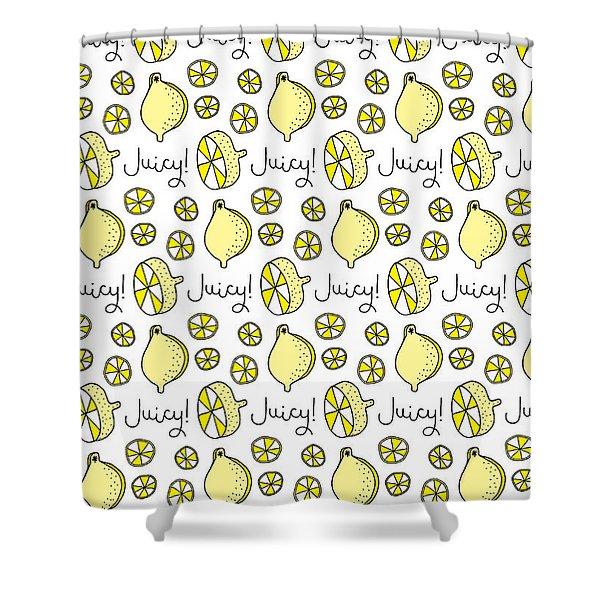 Repeat Prtin - Juicy Lemon Shower Curtain