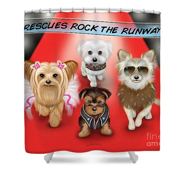 Rescues Rock The Runway Shower Curtain