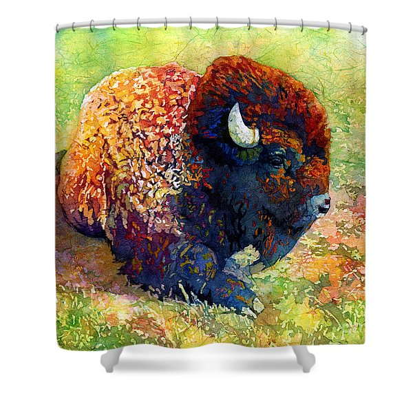 Resting Bison Shower Curtain