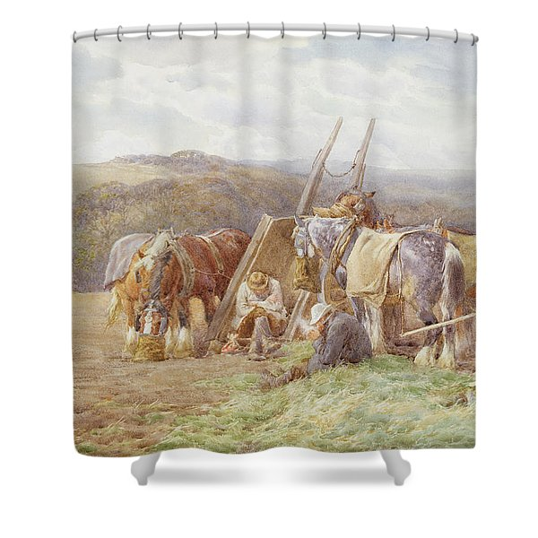 Resting In The Field  Shower Curtain