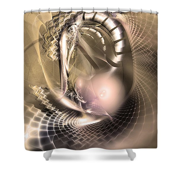 Rete Temporis - Abstract Art Shower Curtain