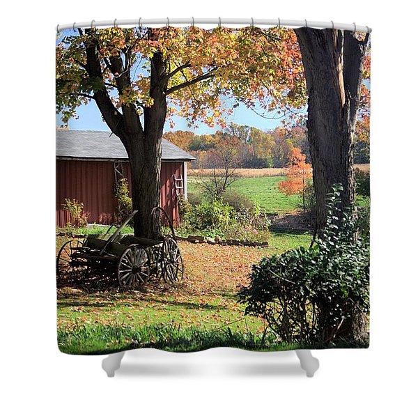 Retired Wagon Shower Curtain