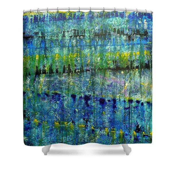 Rhapsody In Blue Shower Curtain