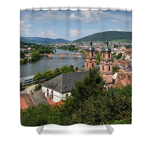 Rhine River Shower Curtain