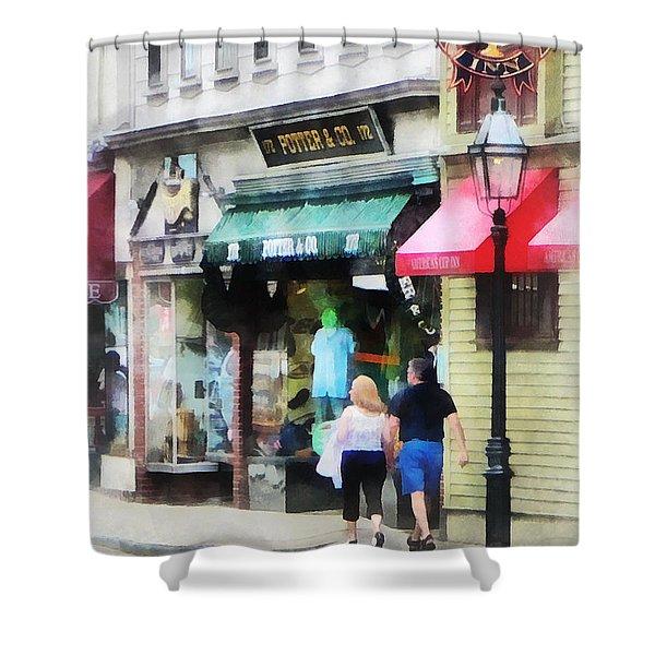 Rhode Island - Thames Street Newport Ri Shower Curtain