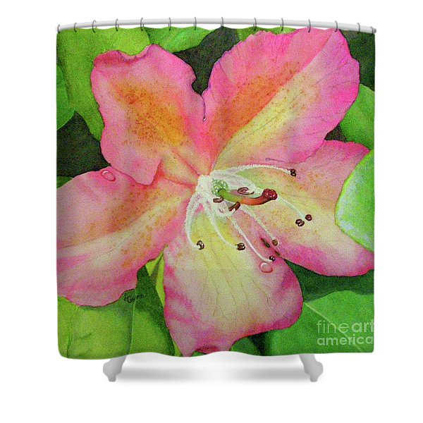 Rhodie With Dew II Shower Curtain