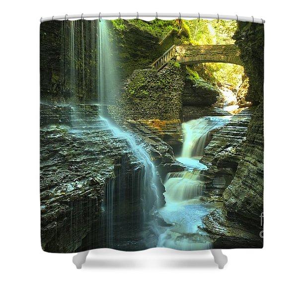 Rainbow Falls Watkins Glen Shower Curtain
