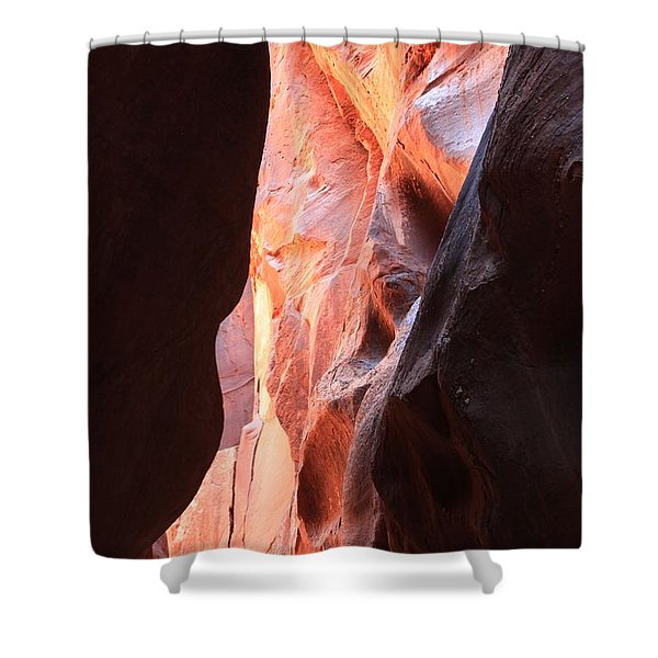 Ribbon Of Fire Shower Curtain
