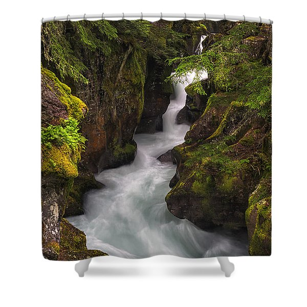Ribbons Of Glacier Shower Curtain
