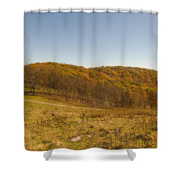 Rich Mountain Autumn Shower Curtain