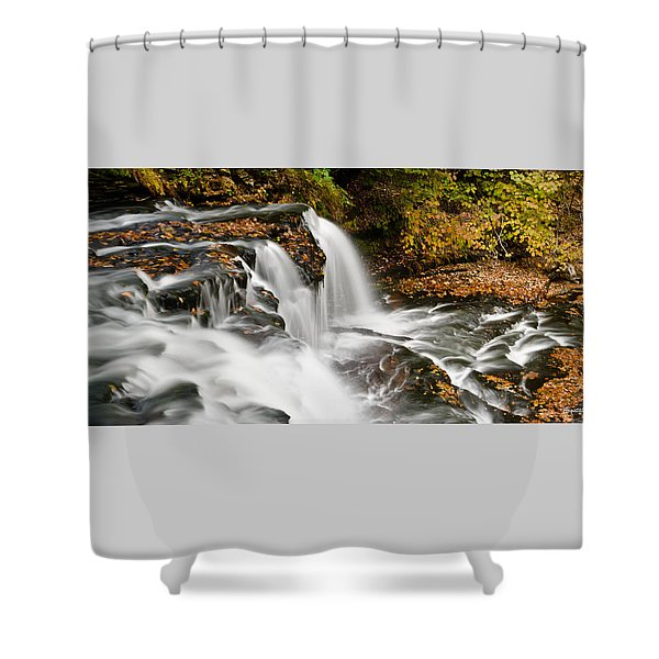 Ricketts Glen - On Top Of The Fall Shower Curtain