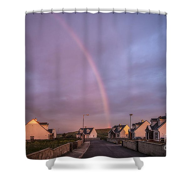 Ride To The Rainbow's End Shower Curtain