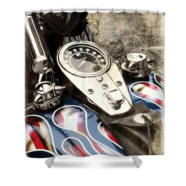 Ride With Pride Shower Curtain