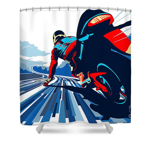 Riding On The Edge Shower Curtain