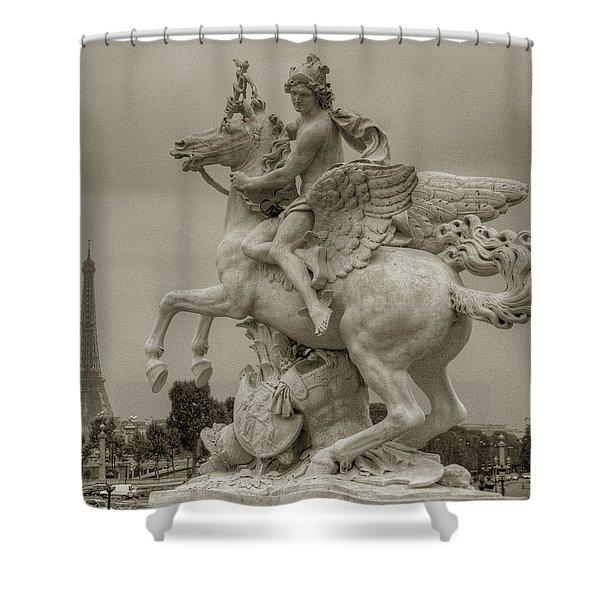 Riding Pegasis Shower Curtain